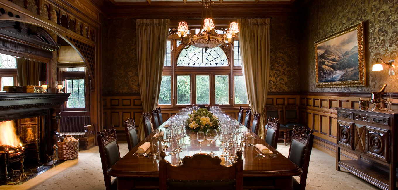 The Dining Room at Otahuna Lodge
