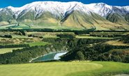 The Southern Alps in New Zealand.