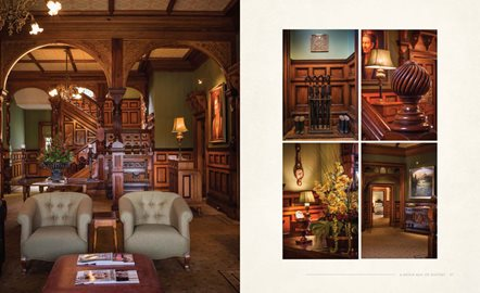 The exquisite interiors are captured in the book.